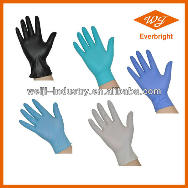 Great Blue Nitrile Medical gloves for Dental and Hospital Use with CE/FDA mark