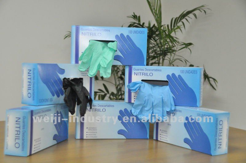 FDA,CE,ISO approved AQL1.5,2.5,4.0 nitrile examination gloves for medical,dental,food,industrial service