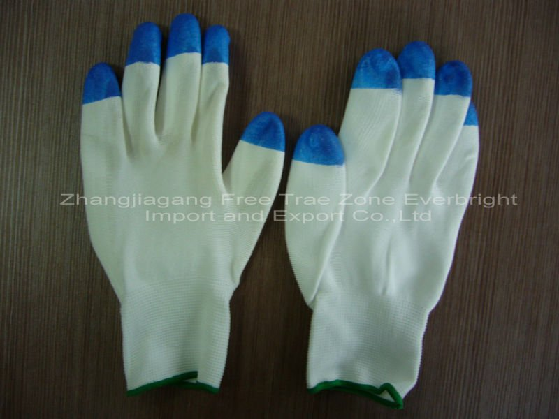 CE Aprroved NylonColored Safety Working PU Coated Glove